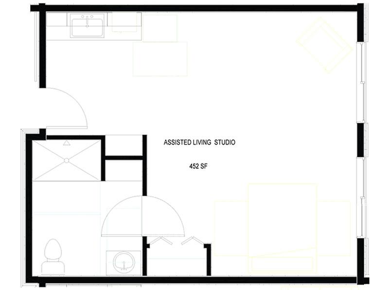 Assisted Living Studio Unit